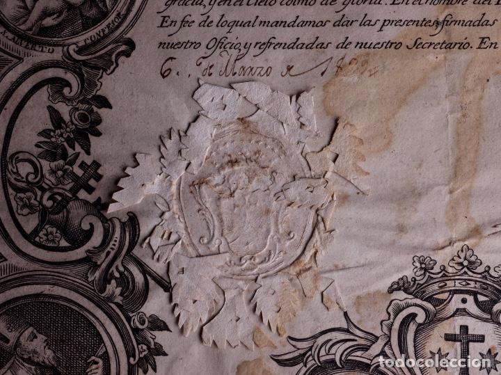 BIENHECHORA DE LA ORDEN DE LOS/AS DESCALZOS/AS DE NTR. SRA. DEL CARMEN DE LA PRIMITIVA, MADRID 1829 (Coleccionismo - Documentos - Otros documentos)