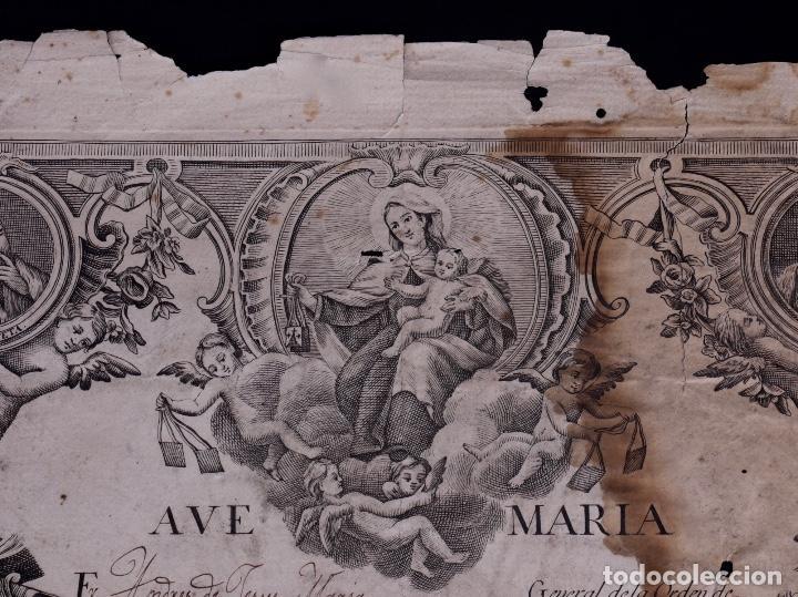 Documentos antiguos: BIENHECHORA DE LA ORDEN DE LOS/AS DESCALZOS/AS DE NTR. SRA. DEL CARMEN DE LA PRIMITIVA, MADRID 1829 - Foto 3 - 134651090