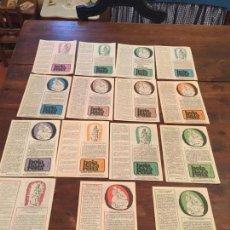 Documentos antiguos: ANTIGUAS 15 HOJAS RELIGIOSAS HOJAS NAZARENAS DE LOS AÑOS 60 . Lote 134718514