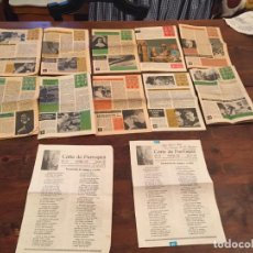 Documentos antiguos: ANTIGUAS 12 HOJAS RELIGIOSAS HOJA DOMINICAL DE LOS AÑOS 60 . Lote 134718566