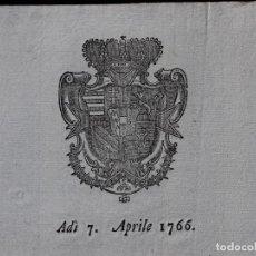 Documentos antiguos: NOTIFICAZIONE, FIRENZE 1771. Lote 134755926