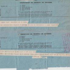 Documentos antiguos: DOS TELEGRAMAS BILBAO 1962. Lote 134821806