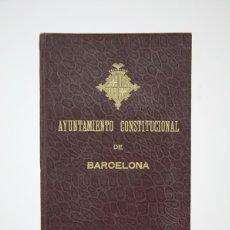 Documentos antiguos: DOCUMENTO - AYUNTAMIENTO CONSTITUCIONAL DE BARCELONA - CEMENTERIO SUD-OESTE / MONTJUÏC - AÑO 1909. Lote 135016278