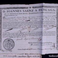 Documentos antiguos: PETICIÓN DE TONSURA AL ARZOBISPO DE ZARAGOZA 1773. Lote 135147170