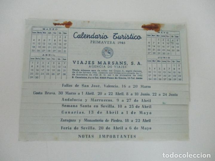 Documentos antiguos: Calendario Turístico - Viajes Marsans - Primavera 1946 - Foto 2 - 135487358