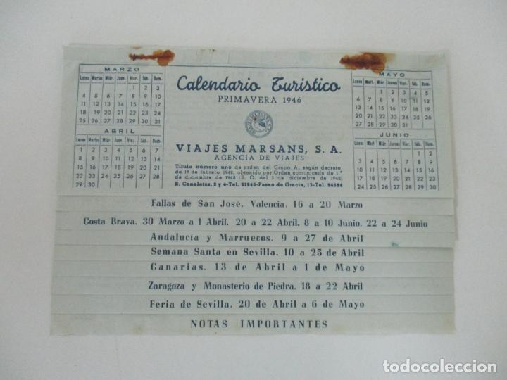Documentos antiguos: Calendario Turístico - Viajes Marsans - Primavera 1946 - Foto 6 - 135487358