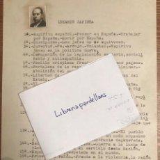 Documentos antiguos: IDEARIO JAPISTA. MECANOGRAFIADO ORIGINAL.FOTO JOSE MARIA GIL ROBLES. PARTIDO ACCION NACIONAL. CEDA. Lote 135556450