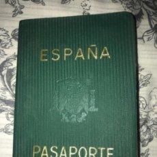Documentos antiguos: ANTIGUO PASAPORTE 1966 BADAJOZ VISITAS ALEMANIA CEUTA PORTUGAL LIECHTENSTEIN. Lote 135601538