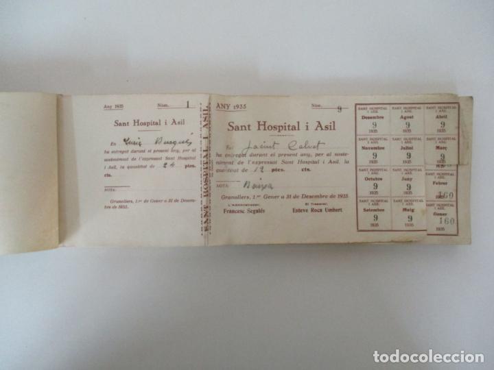 ANTIGUO TALONARIO CON 139 CUPONES - SANT HOSPITAL I ASIL, GRANOLLERS - ANY 1935 (Coleccionismo - Documentos - Otros documentos)