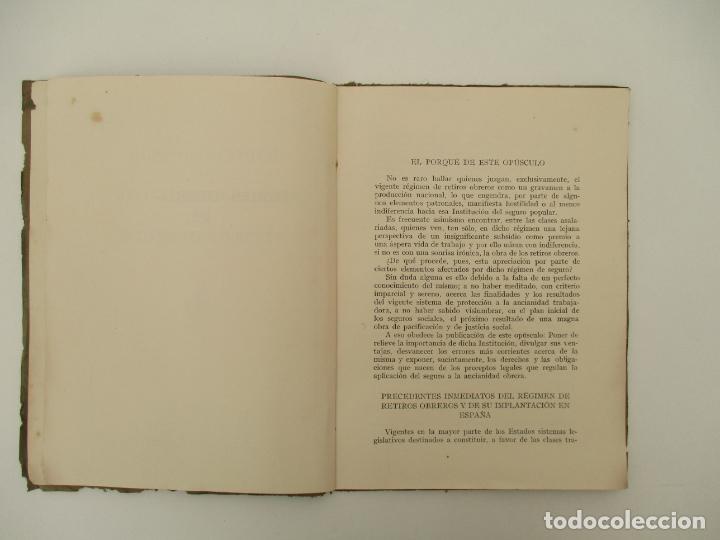 Documentos antiguos: Difusión Popular del Régimen Obligatorio de Retiros Obreros - Años 1927 - Foto 6 - 135634407