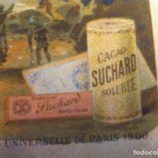 Documentos antiguos: SUCHARD. EXPOSICIÓN UNIVERSAL PARÍS 1900. AQUARIUM.HOJA DE NOTAS ORIGINAL.. Lote 135636071