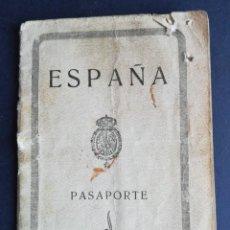 Documentos antiguos: PASAPORTE ESPAÑOL EXPEDIDO EN 1930 GOBIERNO CIVIL DE BURGOS - FOTOS, HUELLAS, SELLOS. Lote 135704979