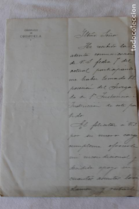 OBISPADO ORIHUELA, OFICIO 1904 (Coleccionismo - Documentos - Otros documentos)