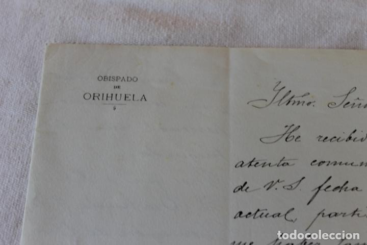 Documentos antiguos: OBISPADO ORIHUELA, OFICIO 1904 - Foto 2 - 135718383