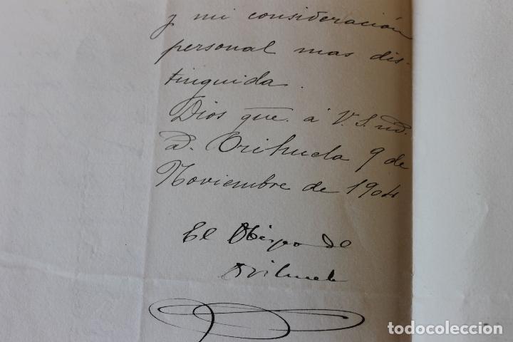 Documentos antiguos: OBISPADO ORIHUELA, OFICIO 1904 - Foto 3 - 135718383