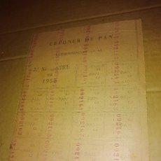 Documentos antiguos: CORDOBA CUPONES DE PAN 1950 . Lote 135937730
