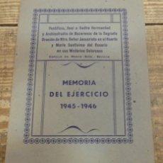 Documentos antiguos: SEMANA SANTA SEVILLA, 1946, MEMORIA EJERCICIO 1945-46 HERMANDAD MONTESION, 32 PAGS.MUY RARA. Lote 135999142