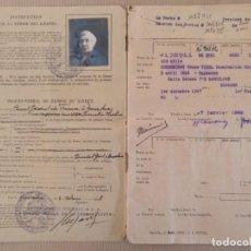 Documentos antiguos: CARNET LIBRETA CON FOTO RENTES VIAGERES SEGUROS SOCIALES PARA LA VEJEZ BARCELONA 1948. Lote 136372422
