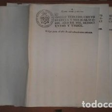 Documentos antiguos: 5 DOBLES FOLIOS DE PAPEL TIMBRADO. SELLO TERCERO, CIENTO TREINTA Y SEIS MARAVEDÍS, 1813. Lote 136453178