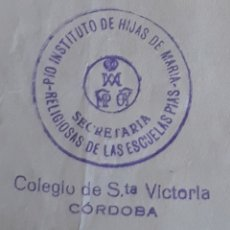 Documentos antiguos: CERTIFICADO DE PAGO CORDOBA RELIGIOSAS DE LAS ESCUELAS PÍAS 1971. Lote 136557418