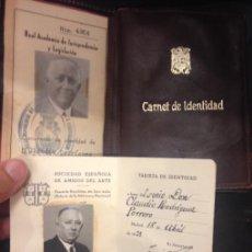 Documentos antiguos: DOCUMENTOS DE CLAUDIO RODRIGUEZ PORRERO, REGISTRADOR Y MIEMBRO DE LA REAL JURISPRUDENCIA AÑOS 30-40. Lote 136803418