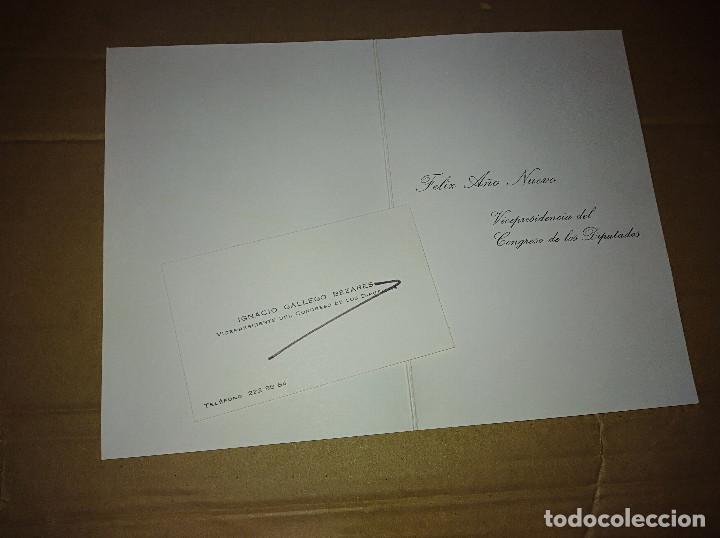 Documentos antiguos: Tarjeta visita diptico congreso diputados ignacio gallego bezades cordoba madrid siles jaen - Foto 2 - 137122262