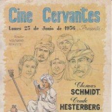 Documentos antiguos: CINE CERVANTES 1956 ALCALA DE HENARES: 10 ENTRADAS - EL TESORO DE MUCK - IMP. TALLER PENITENCIARIO. Lote 137318390