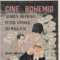 Documentos antiguos: CINE BOHEMIO: 1967 - COMO ROBAR UN MILLON Y ...... / REVERSO 10 ENTRADAS DE CINE. Lote 137416498