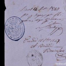 Documentos antiguos: VISADOS DE PASAPORTE PARA EL INTERIOR 1847. Lote 137444542
