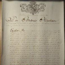 Documentos antiguos: TRES DOCUMENTOS ANTIGUOS, 1836, 1865 Y 1867, CON SELLOS,CUÑOS, MEMBRETES, ESCUDOS Y FIRMAS DE ÉPOCA.. Lote 137937242