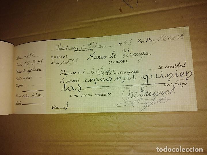 Documentos antiguos: talonario carnet de cheques banco central de barcelona bilbao vizcaya 1948 ver imagenes - Foto 5 - 138244030