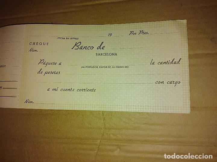 Documentos antiguos: talonario carnet de cheques banco central de barcelona bilbao vizcaya 1948 ver imagenes - Foto 6 - 138244030