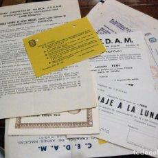 Documentos antiguos: LOTE DOCUMENTOS CEDAM CIRCULO ESPAÑOL DE ARTES MAGICAS MAGIA AÑOS 60 . Lote 138817274