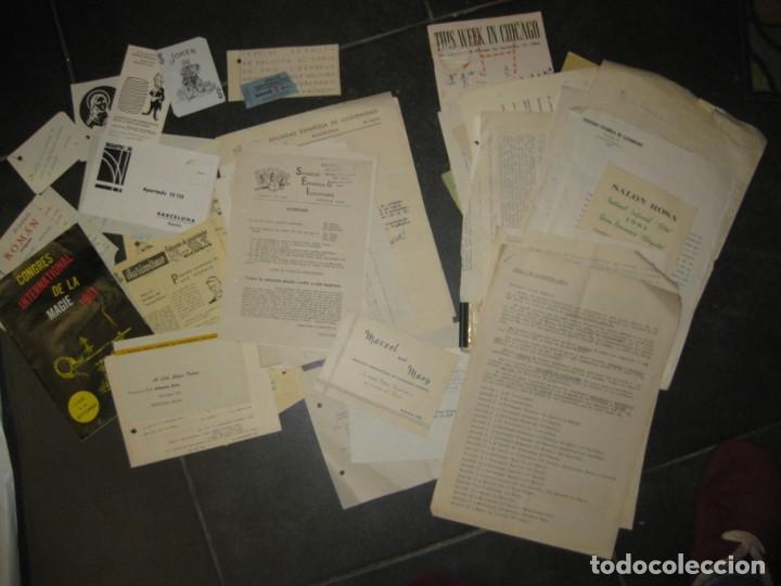 GRAN LOTE DOCUMENTOS MAGIA MAGO RICHMAN PROGRAMAS TRUCOS REVISTAS CARTEL (Coleccionismo - Documentos - Otros documentos)