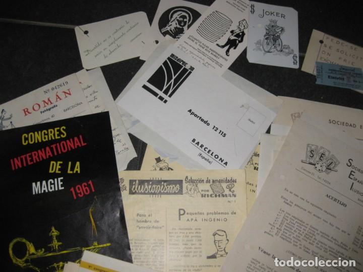 Documentos antiguos: gran lote documentos magia mago richman programas trucos revistas cartel - Foto 3 - 138826866