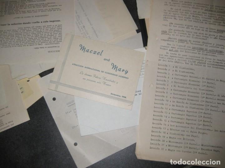 Documentos antiguos: gran lote documentos magia mago richman programas trucos revistas cartel - Foto 4 - 138826866