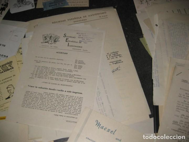 Documentos antiguos: gran lote documentos magia mago richman programas trucos revistas cartel - Foto 5 - 138826866