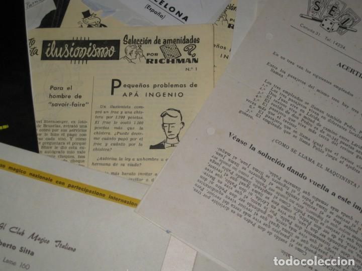 Documentos antiguos: gran lote documentos magia mago richman programas trucos revistas cartel - Foto 6 - 138826866