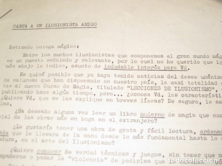 Documentos antiguos: gran lote documentos magia mago richman programas trucos revistas cartel - Foto 7 - 138826866