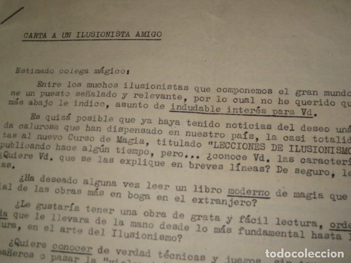 Documentos antiguos: gran lote documentos magia mago richman programas trucos revistas cartel - Foto 8 - 138826866