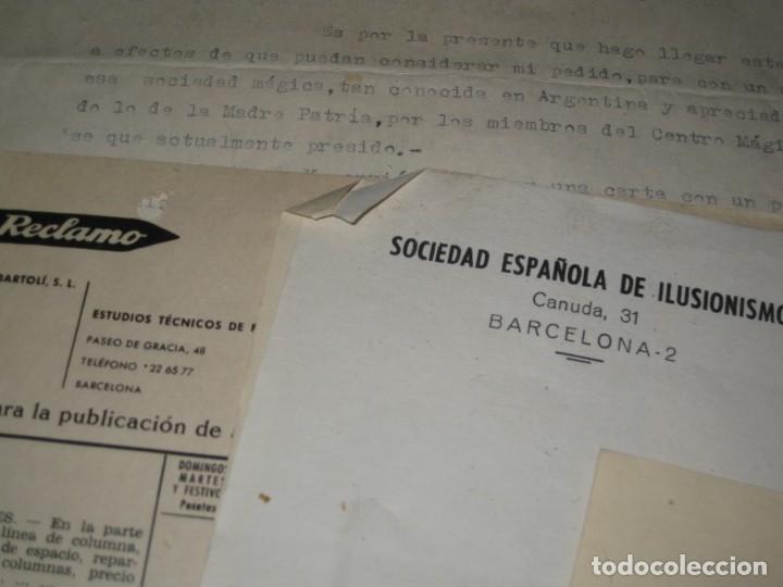 Documentos antiguos: gran lote documentos magia mago richman programas trucos revistas cartel - Foto 10 - 138826866