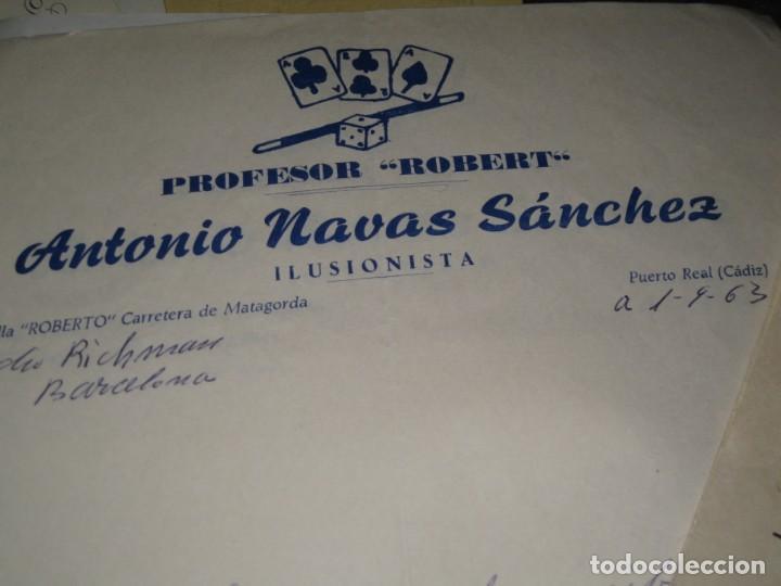 Documentos antiguos: gran lote documentos magia mago richman programas trucos revistas cartel - Foto 11 - 138826866