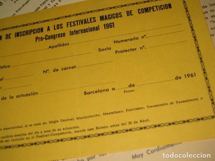 Documentos antiguos: gran lote documentos magia mago richman programas trucos revistas cartel - Foto 17 - 138826866