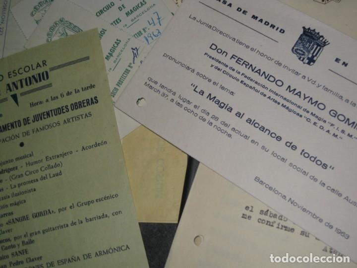 Documentos antiguos: gran lote documentos magia mago richman programas trucos revistas cartel - Foto 23 - 138826866