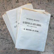 Documentos antiguos: DIARIO CORTES DOCUMENTOS GUERRA SANTO DOMINGO 1865. Lote 139137726
