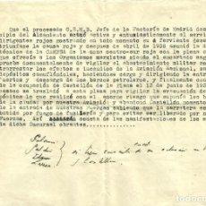 Documentos antiguos: ACUSACIÓN CONTRA UN JEFE DE CAMPSA POR APOYAR LA REPÚBLICA. Lote 139385814