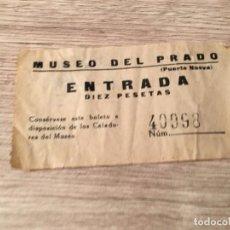 Documentos antiguos: R4787 ENTRADA TICKET MUSEO DEL PRADO PUERTA NUEVA (11-2-1958). Lote 139417578