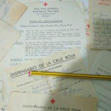 Documentos antiguos: DOCUMENTOS ANTIGUOS AÑOS 70 MEDICO CRUZ ROJA SEVILLA VER FOTO.DISPENSARIO ANALISIS ETC. Lote 139461709