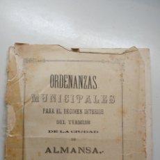 Documentos antiguos: ORDENANZAS MUNICIPALES ALMANSA 1891. Lote 139571610