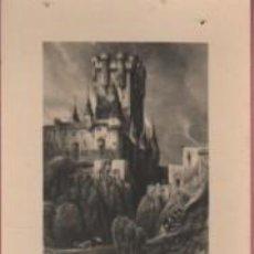 Documentos antigos: TARJETA OBSEQUIO PUBLICIDAD INFONAL - ALCAZAR DE SEGOVIA GRABADO DE ROBERTA. Lote 139578098